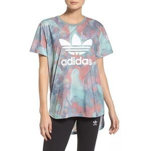Adidas High Low Marble / Watercolor T-shirt